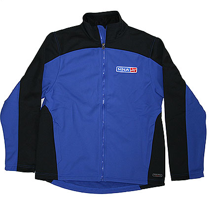 blue men's sweatjacket