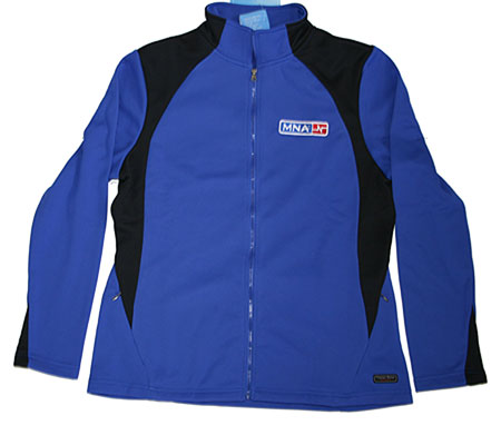 blue women's sweatjacket