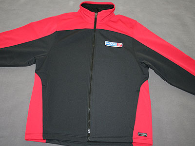 red men's sweatjacket